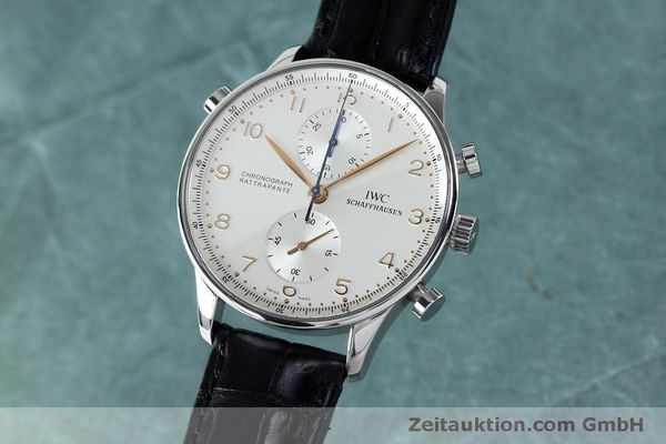 Used luxury watch IWC Portugieser chronograph steel manual winding Kal. 76240 Ref. 3712  | 152144 04