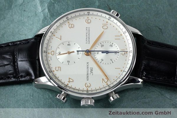 Used luxury watch IWC Portugieser chronograph steel manual winding Kal. 76240 Ref. 3712  | 152144 05