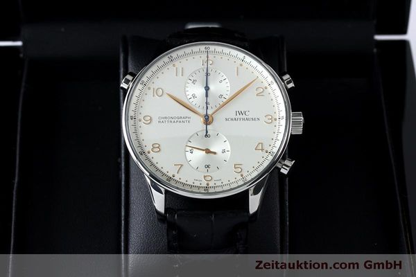 Used luxury watch IWC Portugieser chronograph steel manual winding Kal. 76240 Ref. 3712  | 152144 07