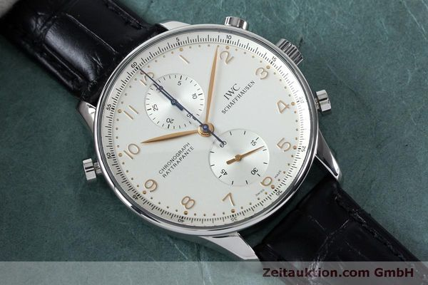 Used luxury watch IWC Portugieser chronograph steel manual winding Kal. 76240 Ref. 3712  | 152144 14
