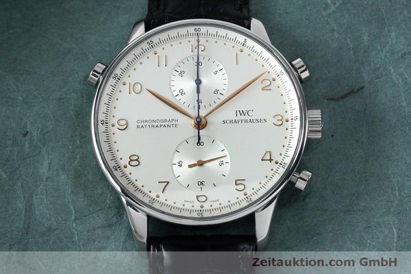 Used luxury watch IWC Portugieser chronograph steel manual winding Kal. 76240 Ref. 3712  | 152144 15