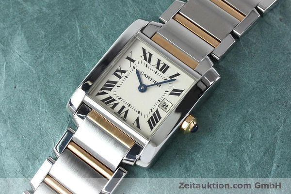 Used luxury watch Cartier Tank steel / gold quartz Kal. 175N  | 152148 01