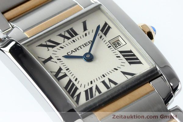 Used luxury watch Cartier Tank steel / gold quartz Kal. 175N  | 152148 02