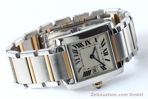 Used luxury watch Cartier Tank steel / gold quartz Kal. 175N  | 152148 03