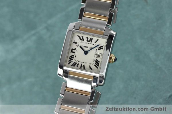 Used luxury watch Cartier Tank steel / gold quartz Kal. 175N  | 152148 04