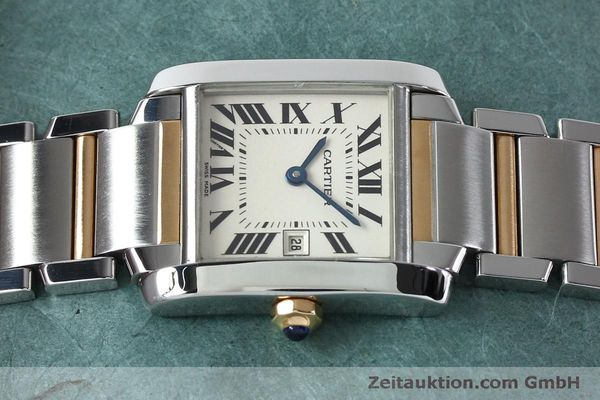 Used luxury watch Cartier Tank steel / gold quartz Kal. 175N  | 152148 05