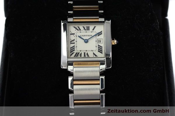 Used luxury watch Cartier Tank steel / gold quartz Kal. 175N  | 152148 07