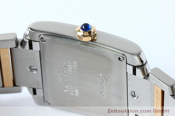 Used luxury watch Cartier Tank steel / gold quartz Kal. 175N  | 152148 08