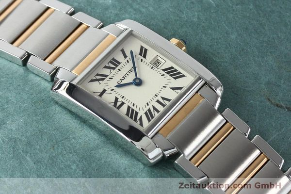 Used luxury watch Cartier Tank steel / gold quartz Kal. 175N  | 152148 12