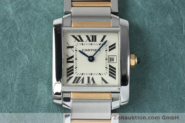 Used luxury watch Cartier Tank steel / gold quartz Kal. 175N  | 152148 13