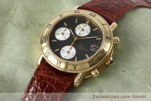 Used luxury watch Baume & Mercier Baumatic chronograph 18 ct gold automatic Kal. BM13283 ETA 2892-2 Ref. 86104  | 152152 01