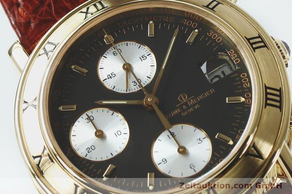 Used luxury watch Baume & Mercier Baumatic chronograph 18 ct gold automatic Kal. BM13283 ETA 2892-2 Ref. 86104  | 152152 02