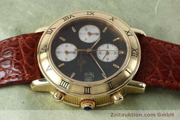 Used luxury watch Baume & Mercier Baumatic chronograph 18 ct gold automatic Kal. BM13283 ETA 2892-2 Ref. 86104  | 152152 05