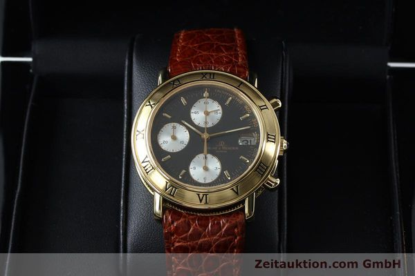Used luxury watch Baume & Mercier Baumatic chronograph 18 ct gold automatic Kal. BM13283 ETA 2892-2 Ref. 86104  | 152152 07