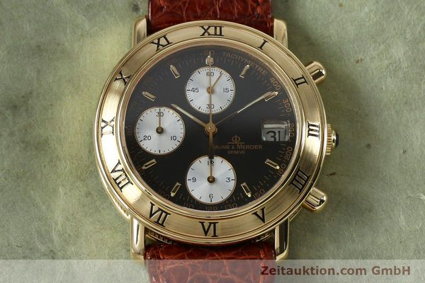 Used luxury watch Baume & Mercier Baumatic chronograph 18 ct gold automatic Kal. BM13283 ETA 2892-2 Ref. 86104  | 152152 15