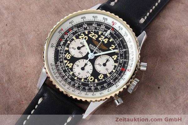 Used luxury watch Breitling Navitimer chronograph steel / gold manual winding Kal. LWO 1873 Ref. B12019  | 152154 01