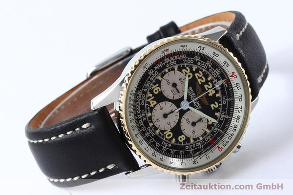 Used luxury watch Breitling Navitimer chronograph steel / gold manual winding Kal. LWO 1873 Ref. B12019  | 152154 03