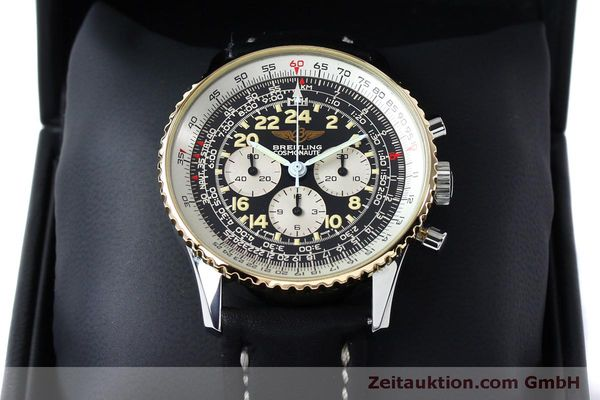 Used luxury watch Breitling Navitimer chronograph steel / gold manual winding Kal. LWO 1873 Ref. B12019  | 152154 07