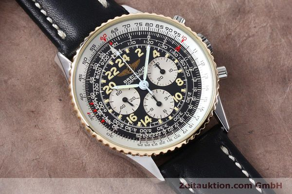 Used luxury watch Breitling Navitimer chronograph steel / gold manual winding Kal. LWO 1873 Ref. B12019  | 152154 12