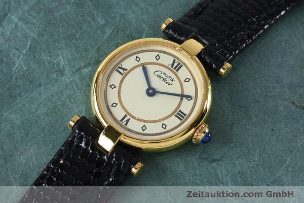 Used luxury watch Cartier Vermeil silver-gilt quartz Kal. 90  | 152161 01