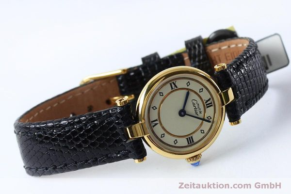 Used luxury watch Cartier Vermeil silver-gilt quartz Kal. 90  | 152161 03