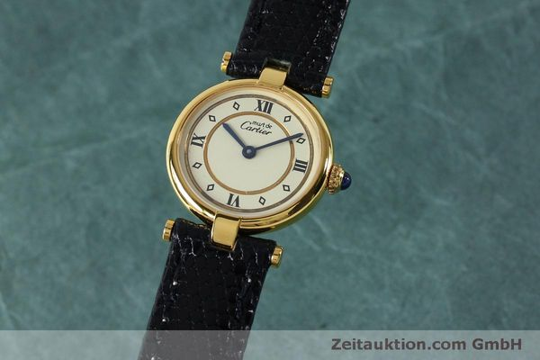 Used luxury watch Cartier Vermeil silver-gilt quartz Kal. 90  | 152161 04