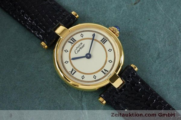 Used luxury watch Cartier Vermeil silver-gilt quartz Kal. 90  | 152161 11