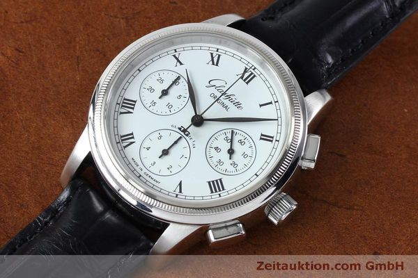 Used luxury watch Glashütte Senator chronograph steel automatic Kal. GUB 39-30  | 152170 01