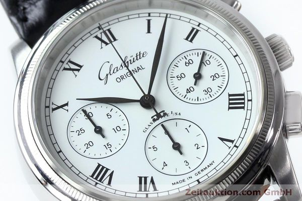 Used luxury watch Glashütte Senator chronograph steel automatic Kal. GUB 39-30  | 152170 02