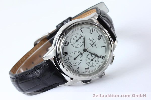 Used luxury watch Glashütte Senator chronograph steel automatic Kal. GUB 39-30  | 152170 03