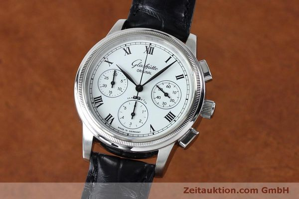 Used luxury watch Glashütte Senator chronograph steel automatic Kal. GUB 39-30  | 152170 04