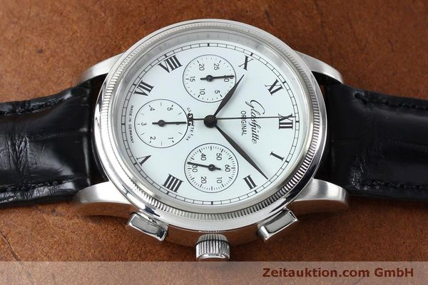 Used luxury watch Glashütte Senator chronograph steel automatic Kal. GUB 39-30  | 152170 05