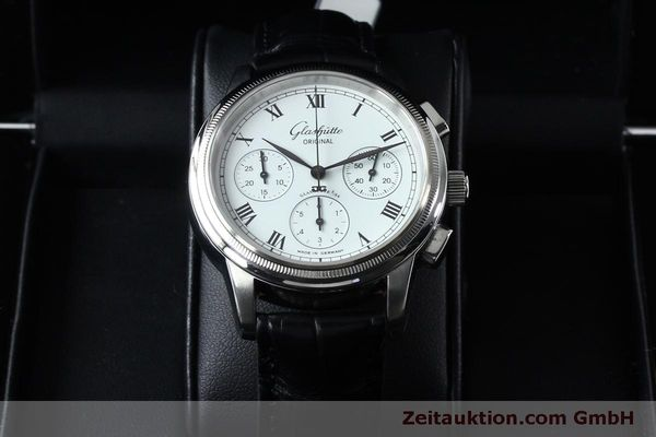 Used luxury watch Glashütte Senator chronograph steel automatic Kal. GUB 39-30  | 152170 07