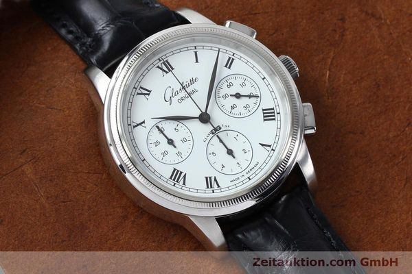Used luxury watch Glashütte Senator chronograph steel automatic Kal. GUB 39-30  | 152170 13