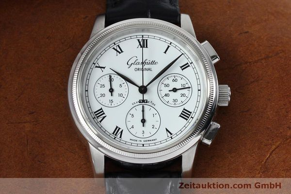 Used luxury watch Glashütte Senator chronograph steel automatic Kal. GUB 39-30  | 152170 14