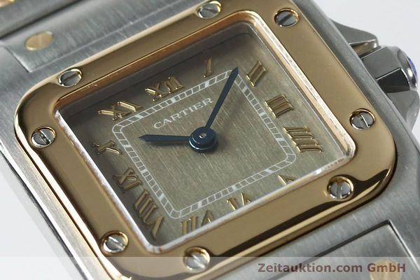Used luxury watch Cartier Santos steel / gold quartz Kal. 157  | 152172 02