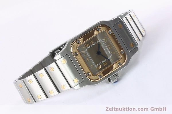Used luxury watch Cartier Santos steel / gold quartz Kal. 157  | 152172 03