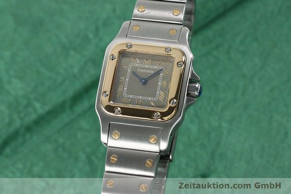 Used luxury watch Cartier Santos steel / gold quartz Kal. 157  | 152172 04
