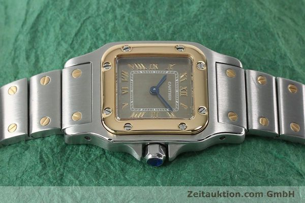 Used luxury watch Cartier Santos steel / gold quartz Kal. 157  | 152172 05