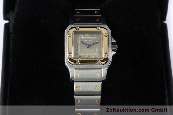 Used luxury watch Cartier Santos steel / gold quartz Kal. 157  | 152172 07