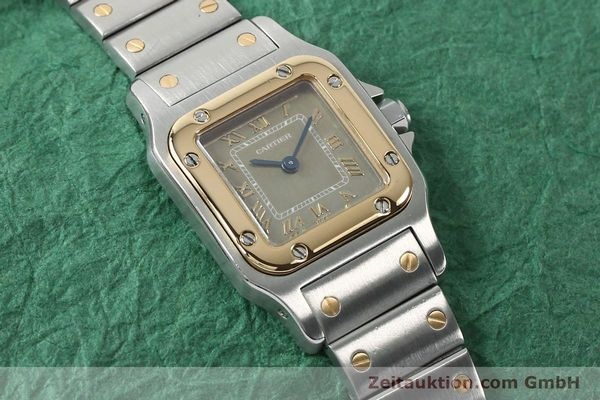 Used luxury watch Cartier Santos steel / gold quartz Kal. 157  | 152172 12