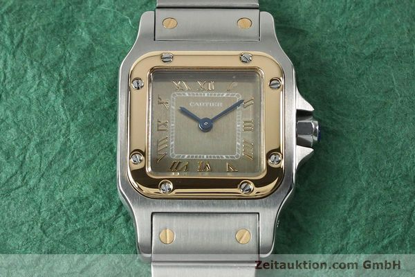 Used luxury watch Cartier Santos steel / gold quartz Kal. 157  | 152172 13