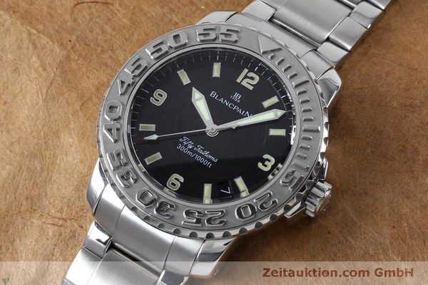 Used luxury watch Blancpain Fifty Fathoms steel automatic Kal. 11.51  | 152175 01