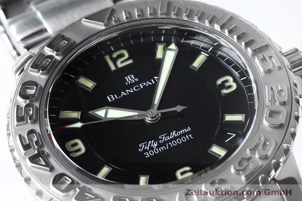 Used luxury watch Blancpain Fifty Fathoms steel automatic Kal. 11.51  | 152175 02
