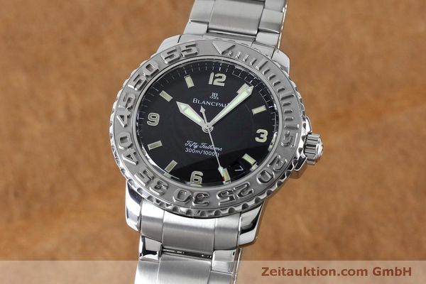 montre de luxe d occasion Blancpain Fifty Fathoms acier automatique Kal. 11.51  | 152175 04