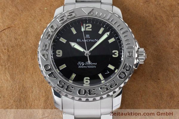Used luxury watch Blancpain Fifty Fathoms steel automatic Kal. 11.51  | 152175 17