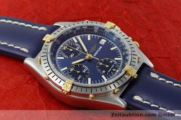 Used luxury watch Breitling Chronomat chronograph steel / gold automatic Kal. VAL 7750 Ref. 81950  | 152177 14