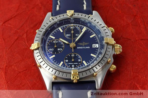 Used luxury watch Breitling Chronomat chronograph steel / gold automatic Kal. VAL 7750 Ref. 81950  | 152177 15