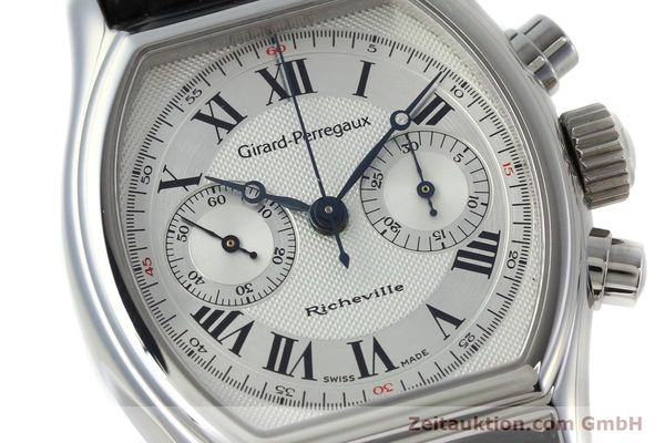 Used luxury watch Girard Perregaux Richeville chronograph steel manual winding Kal. LWO 1872 Ref. 2710  | 152191 02