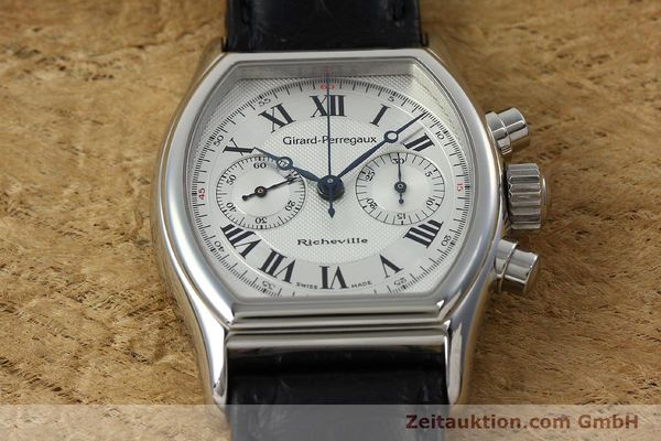 Used luxury watch Girard Perregaux Richeville chronograph steel manual winding Kal. LWO 1872 Ref. 2710  | 152191 13